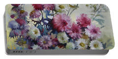 Portable Battery Charger featuring the painting Harmonies Of Autumn by Elena Oleniuc