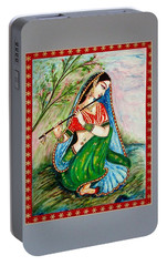 Portable Battery Charger featuring the painting Harmony by Harsh Malik