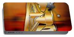 Portable Battery Charger featuring the digital art Harp Player by Marvin Blaine