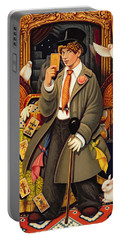 Harpo, 2010 Oils & Tempera On Panel Portable Battery Charger