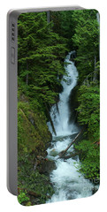 Portable Battery Charger featuring the photograph Harrison Lake Road Falls by Rod Wiens