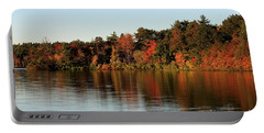 Hart Pond Golden Hour Portable Battery Charger by Kenny Glotfelty