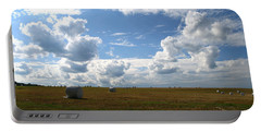 Portable Battery Charger featuring the photograph Harvest Blue  by Neal Eslinger