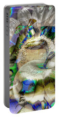 Portable Battery Charger featuring the digital art Harvest by Eleni Mac Synodinos