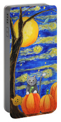 Harvest Moon Over The Pumpkins Portable Battery Charger