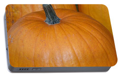 Portable Battery Charger featuring the photograph Harvest Pumpkins by Chalet Roome-Rigdon