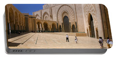 Portable Battery Charger featuring the photograph Hassan II Mosque Grand Mosque Sour Jdid Casablanca Morocco by Ralph A  Ledergerber-Photography