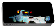 Portable Battery Charger featuring the digital art Haunted Truck by Cathy Anderson
