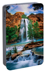 Havasu Cascades Portable Battery Charger by Inge Johnsson