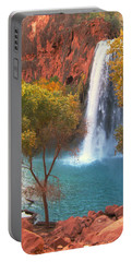 Havasu Falls Portable Battery Charger by Alan Socolik