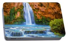 Havasu Falls Portable Battery Charger by David Wagner