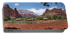 Portable Battery Charger featuring the photograph Havasupai Village Panorama by Alan Socolik