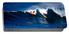 Hawaii Oahu Waimea Bay Surfers Portable Battery Charger