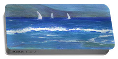 Portable Battery Charger featuring the painting Hawaiian Sail by Jamie Frier