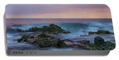 Hawaiian Waves At Sunset Portable Battery Charger