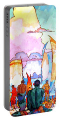 Portable Battery Charger featuring the painting Hawaiians by Pg Reproductions