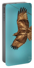 Hawk In Flight Portable Battery Charger by Robert Frederick