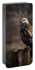 Hawk On A Post Portable Battery Charger by Randy Hall