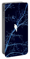 Hawk Silhouette On Blue Portable Battery Charger