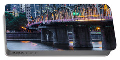 Hawthorne Bridge Portland Oregon Portable Battery Charger by Patricia Babbitt