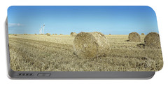Hay Bales In A Field, Veules-les-roses Portable Battery Charger