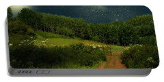 Hazy Moon Meadow Portable Battery Charger by RC deWinter
