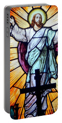 He Is Risen Portable Battery Charger by Ed Weidman