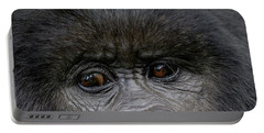 Headshot Of Mountain Gorilla Gorilla Portable Battery Charger