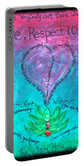 Healing Art - Love Respect And Cherish Me? Portable Battery Charger