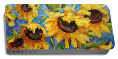Healing Light Of Sunflowers Portable Battery Charger