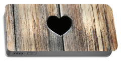Portable Battery Charger featuring the photograph Heart In Wood by Brooke T Ryan