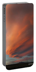 Heart Mountain Cirrus Sunset-signed Portable Battery Charger