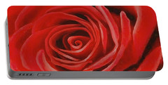 Heart Of A Red Rose Portable Battery Charger