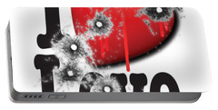 Heart Series Love Bullet Holes In Paintings Portable Battery Charger