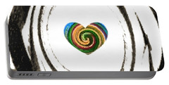 Portable Battery Charger featuring the digital art Heart Within by Catherine Lott