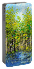 Portable Battery Charger featuring the painting Heat Of Summer by Tatiana Iliina