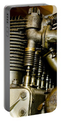 Portable Battery Charger featuring the photograph Heath-henderson Motorcycle Engine by Wilma  Birdwell