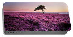 Heather At Sunset Portable Battery Charger