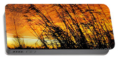 Sunset Heaven And Hell In Beaumont Texas Portable Battery Charger by Michael Hoard