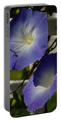 Heavenly Blue Morning Glory Portable Battery Charger