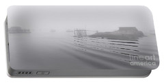Heavy Fog And Gentle Ripples Portable Battery Charger by Marty Saccone