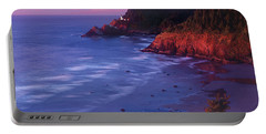Heceta Head Lighthouse At Sunset Oregon Coast Portable Battery Charger