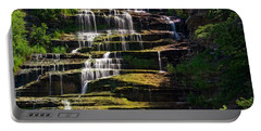 Portable Battery Charger featuring the photograph Hector Falls by Dave Files