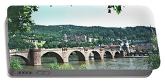 Heidelberg Schloss Overlooking The Neckar Portable Battery Charger