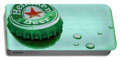 Heineken Cap Green Portable Battery Charger