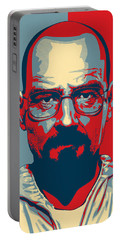 Portable Battery Charger featuring the digital art Heisenberg by Taylan Apukovska