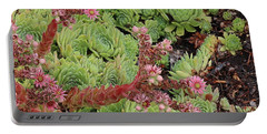 Hen And Chick In Bloom Portable Battery Charger