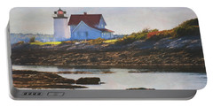 Hendricks Head Lighthouse - Maine Portable Battery Charger by Jean-Pierre Ducondi