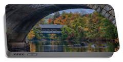 Henniker Covered Bridge No. 63 Portable Battery Charger by Jeff Folger