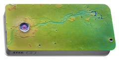 Portable Battery Charger featuring the photograph Hephaestus Fossae, Mars by Science Source